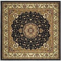 Safavieh Lyndhurst Collection Traditional Black/ Ivory Rug (6' Square)