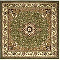 Lyndhurst Collection Traditional Sage/Ivory Rug (8' Square)