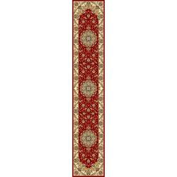 Lyndhurst Collection Red/ Ivory Runner (2'3 x 22')