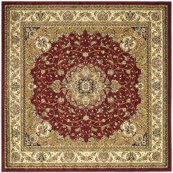 Lyndhurst Collection Red/ Ivory Rug (8' Square)