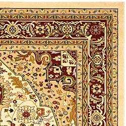 Safavieh Lyndhurst Collection Traditional Ivory/Red Area Rug (4' x 6')
