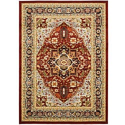 Safavieh Lyndhurst Collection Traditional Red/Black Area Rug (4' x 6')