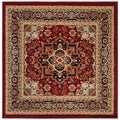 Safavieh Lyndhurst Collection Red/Black Area Rug (6' Square)