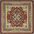 Safavieh Traditional Lyndhurst Collection Red/Black Rug (8' Square)