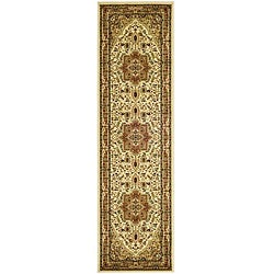 "Lyndhurst Collection Ivory/Rust Runner Rug (2'3"" x 14')"