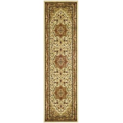 Lyndhurst Collection Ivory/Rust Runner Rug (2'3 x 8')
