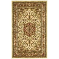 Lyndhurst Collection Ivory/Rust Oriental Rug (3'3 x 5'3)