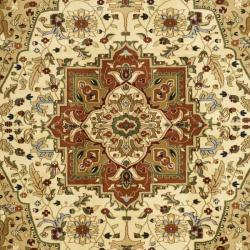 Lyndhurst Collection Ivory/ Rust Rug (4' x 6')