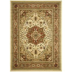 Lyndhurst Collection Ivory/ Rust Rug (5'3 x 7'6)