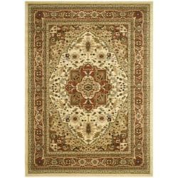 Safavieh Lyndhurst Collection Ivory/ Rust Rug (5'3 x 7'6)