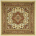 Lyndhurst Collection Ivory/ Rust Rug (6' Square)