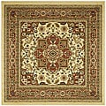 Safavieh Lyndhurst Collection Ivory/ Rust Rug (6' Square)
