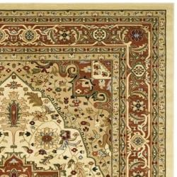 Lyndhurst Collection Ivory/Rust Area Rug (8' x 11')