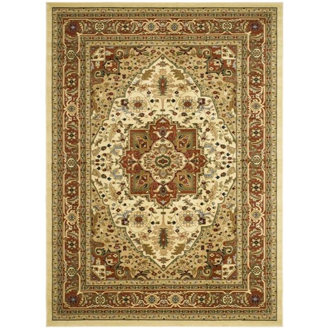 Lyndhurst Collection Ivory/rust Area Rug (8 X 11)