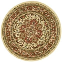 Safavieh Lyndhurst Collection Oriental Ivory/Rust Rug (8' Round)