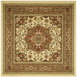 Lyndhurst Collection Ivory/Rust Indoor Rug (8' Square)