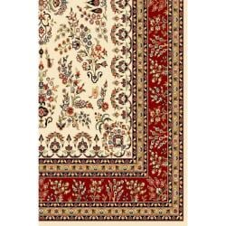 Lyndhurst Collection Ivory/ Red Rug (4' x 6')