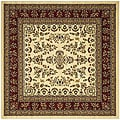 Lyndhurst Collection Ivory/ Red Rug (8' Square)