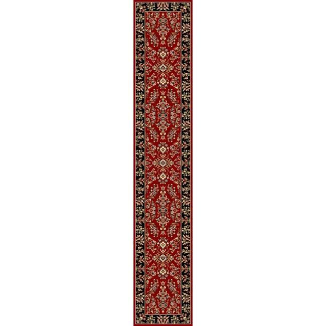 Safavieh Lyndhurst Collection Red/ Black Runenr (2'3 x 16')