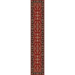 Safavieh Lyndhurst Collection Red/ Black Runenr (2'3 x 16')