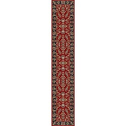 Lyndhurst Collection Red/ Black Runner (2'3 x 22')