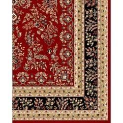 Lyndhurst Collection Red/ Black Rug (4' x 6')