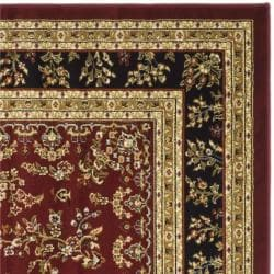 Lyndhurst Collection Red/ Black Rug (6' Square)