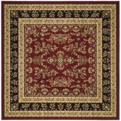 Lyndhurst Collection Red/ Black Rug (8' Square)