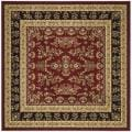 Safavieh Lyndhurst Collection Red/ Black Rug (8' Square)