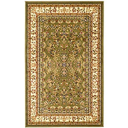 Lyndhurst Collection Sage/Ivory Area Rug (4' x 6')