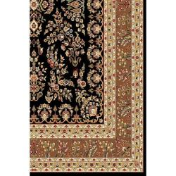 Lyndhurst Collection Black/ Tan Rug (4' x 6')