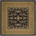 Lyndhurst Collection Black/ Tan Rug (6' Square)