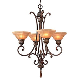 Palladio 4-light Hand-painted Chandelier