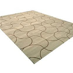 Hand-tufted Santana Abstract Wool Rug (7'9 x 9'9)
