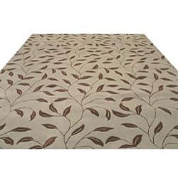 Hand-tufted Santiago Floral Wool Rug (7'9 x 9'9)