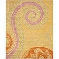 Hand-tufted Tirana Abstract Wool Rug (4' x 6')