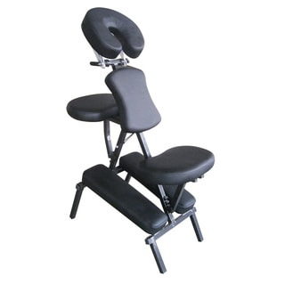 Portable Black Massage Folding Chair