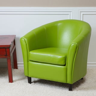 Christopher Knight Home Sherri Lime Green Bonded Leather Chair