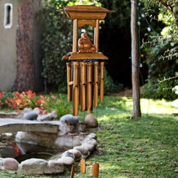 Bamboo and Wood Buddha Altar Chime (Indonesia)