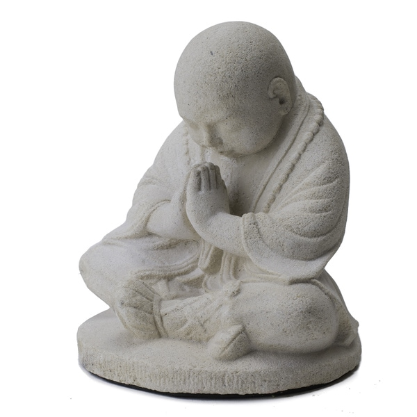 Baby Namaste Praying Monk Sculpture (Indonesia)