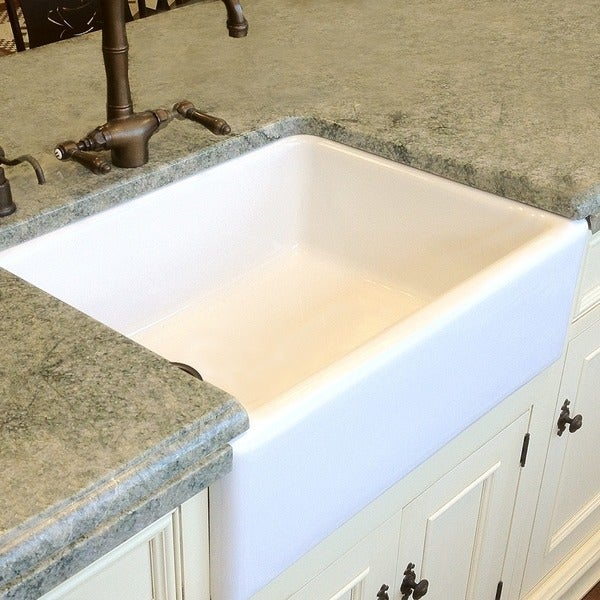 30 In Farmhouse Sink : HighPoint Fireclay 30-inch White Farm Sink - 12915070 - Overstock.com ...