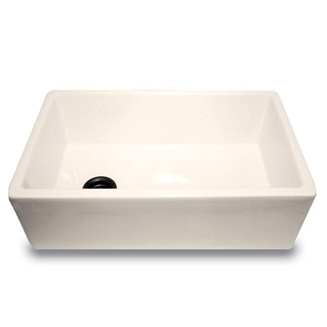 Farm Sink 30 Inch : Highpoint Collection 30-inch Fireclay Farm Sink - Bisque - Overstock ...