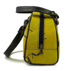 Recycled Plastic Yellow Birdie Handbag (India)