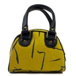 Recycled Plastic Yellow Birdie Handbag (India)