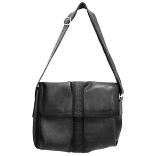 Recycled Tire and Tube Messenger Bag (India)