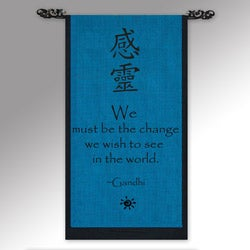 'Be The Change' Ganhdi Quote Scroll (Indonesia)