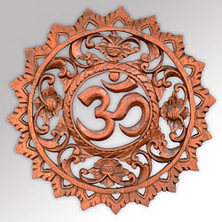Suar Wood Om Wall Plaque (Indonesia)