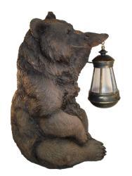 Brown Grizzly Bear Solar Lantern Light Overstock