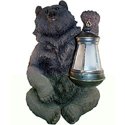 Brown Grizzly Bear Solar Lantern Light