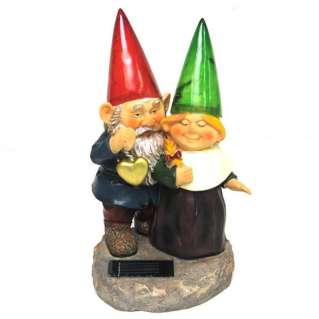 Gnomes Outdoor 2-light LED Solar Lamp